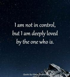 Love this! I'm so thankful He is in control!