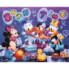 Walt Disney Disney Babies Bath Time Art Print Poster