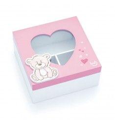Urso Baby Rosa - Caixa Organizadora