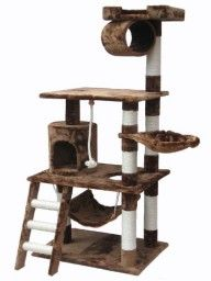 BIG 62 Inch Cat Tree with lots of fun stuff to do for kitties :-)