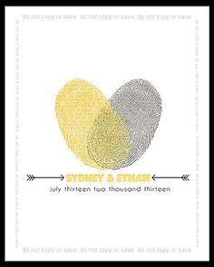 Wedding guest book alternative - 16x20 Custom fingerprint signature wedding guest book - Wedding Poster via Etsy