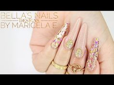 ♡Bellas Nails Designs♡ Vintage Pink Nails/ Uñas rosa viejo - YouTube