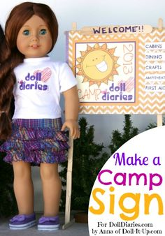 Doll Craft – Make Camp Signs — Doll Diaries
