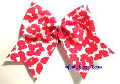 Pink Cheetah Cheer Bow
