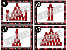 Grab these Cup Stacking Challenge Cards for endless classroom fun and engagement.Need to boost student problem solving? Kindergarten Activities, Science Activities, Play Based Learning, Kids Learning, Cup Games, Indoor Recess, Minute To Win It Games, Classroom Games, School Items