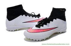 best sneakers 0a357 cda17 Masculino Branco Preto Rosa NIKE ELASTICO Superfly IC onde comprar chuteiras