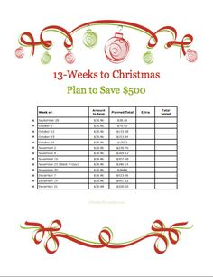 How to Save $500 For Christmas Shopping Beginning Today (Free Printable Too)