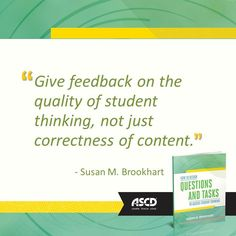 Susan M. Brookhart shares ideas on how teachers can assess students' ability to think at higher levels in her book, How to Design Questions and Tasks to Assess Student Thinking. #assessments
