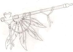 American Indian Calumet Pipe Tattoo by ~Metacharis on deviantART
