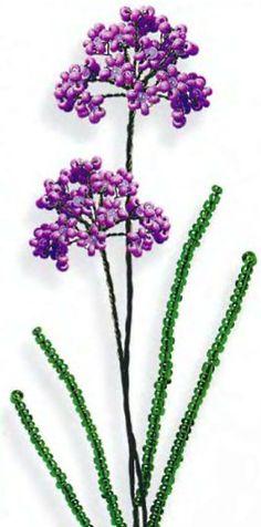 цветы дикого лука из бисера