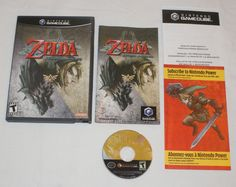 Legend of Zelda Twilight Princess Nintendo GameCube 100% Complete manual inserts