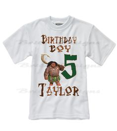 Moana Birthday shirt, Moana Maui Boys Birthday Shirt, Personalized boys shirt, Moana party shirts, Maui Boys Birthday shirts by BritoDesigns on Etsy https://www.etsy.com/listing/504746081/moana-birthday-shirt-moana-maui-boys