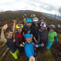Good times this weekend celebrating @incognitomtb's 30th birthday in Dunkeld. #gopro by danny_macaskill