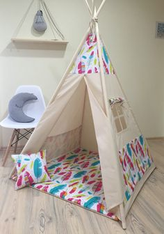 teepee tent navy stripes tente chambre enfant pinterest tipi enfant enfant et tente tipi. Black Bedroom Furniture Sets. Home Design Ideas