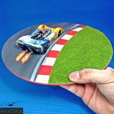 "Porsche 908 in Diorama ""Track Curve"". 1/32 scale  #porsche #diorama #scenary #slot #slotcar #scalemodel #scalextric #base #curva #circuito #redbull Picnic Blanket, Outdoor Blanket, Curve, Diorama Ideas, Slot, Porsche, Scale, Models, Tips"