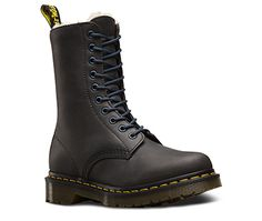 Fur Lined 1490 in Graphite Grey from Dr Martens website. Those way up in the northern latitudes will enjoy having their feet kept toasty wearing these boots!