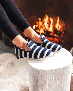 Breton Striped Slippers - Womens – Farmhouse Pottery