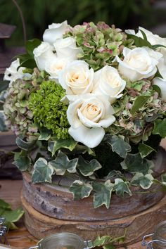 Rustic, Green, Natural Ivory.