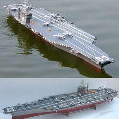 HUGE NEARLY 6 FOOT RC RADIO CONTROL USS NIMITZ CARRIER SHIP BOAT -WATCH VIDEO!   eBay