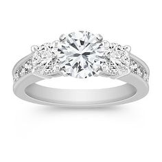 Three-Stone Diamond Engagement Ring with Channel Setting  Shane Co