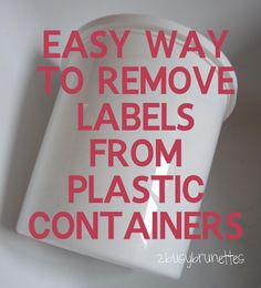 Remove the Label from Yogurt Containers!