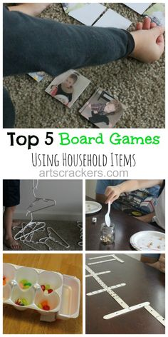 Top 5 Board Games Using Household Items   High Five Friday   Arts & Crackers