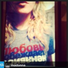 "Thanks Madonna! ""#LoveConquersHate! Russia and the Olympics need to get their act together for the Sochi 2014. Discrimination will not be tolerated!""   http://www.LoveConquersHate.org"