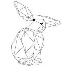 New Origami Tattoo Rabbit Bunnies Ideas Origami Tattoo, Origami Art, Geometric Art Tattoo, Geometric Drawing, Geometric Tattoo Rabbit, Bunny Tattoos, Rabbit Tattoos, Geometric Designs, Geometric Shapes
