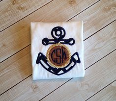 Monogram Anchor shirt on Etsy, $20.00