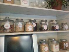 After shot, close up of some of the canister labels.  (See before and after shots on the blog!)