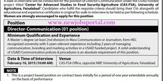 Walk In Interview (University of Agriculture) - New Jobs Portal
