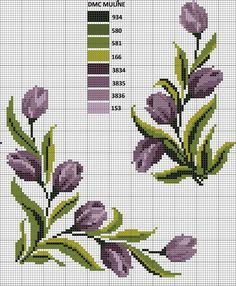 This Pin was discovered by ulk Cross Stitch Boarders, Cross Stitch Rose, Cross Stitch Flowers, Cross Stitch Charts, Cross Stitch Designs, Cross Stitching, Cross Stitch Embroidery, Embroidery Patterns, Hand Embroidery