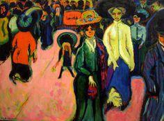 Ernst Ludwig Kirchner Expressionism | Ernst Ludwig Kirchner ~ Expressionist painter