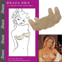 2802c5a05a22e Braza - Self Adhesive Strapless Bra - Size DD 5 Pair - Disposable Excellent  quality adhesive that is breathable