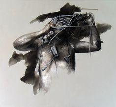 """Xavier Jallais - """"Autographie (trilogy) - Ash, sand, acrylic & oil on canvas, 130 x 120 (cm) Chef D Oeuvre, Les Oeuvres, Batman, Superhero, Ash, Painting, Fictional Characters, Canvas, Contemporary"""