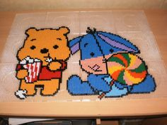 Luxury Winnie and Eeyore hama perler by creations differente skyrock