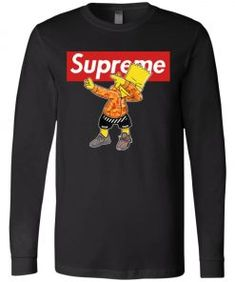 Bart Simpson Dabbing Supreme Long Sleeve - UnicornAZ - Fortnite, Sport, Trending apparel Bart Simpson, Supreme, Dabbing, Hoodies, Long Sleeve, Sports, Sleeves, Cotton, Mens Tops