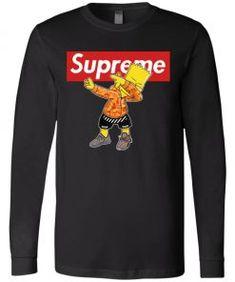 Bart Simpson Dabbing Supreme Long Sleeve - UnicornAZ - Fortnite, Sport, Trending apparel Bart Simpson, Supreme, Dabbing, Hoodies, Long Sleeve, Sleeves, Sports, Cotton, Mens Tops