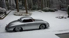 Porsche 1957 Porsche 356 hardtop speedster with fresh snow Hot cars Porsche 356 Outlaw, Porsche 356 Speedster, Porsche 356a, Porsche Carrera, Porsche Classic, Classic Cars, Porsche 2017, Porsche Cars, Volkswagen