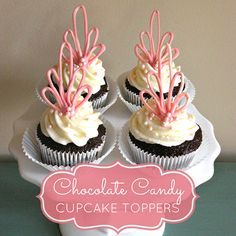 Elegant Cupcake Toppers