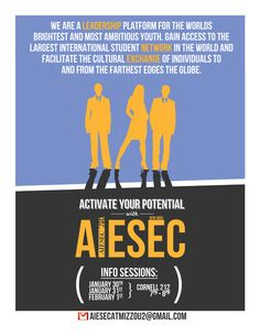Spring 2012 AIESEC Mizzou membership recruitment posters