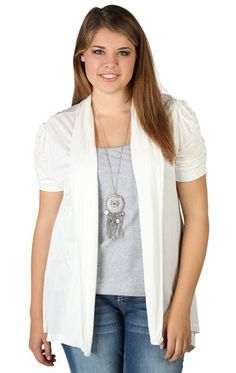 Plus Size Cozy with Ruched Short Sleeves