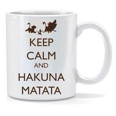 Tazza personalizzata Keep calm and hakuna matata