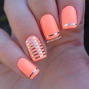 Потрясающий персиковый маникюр (34 фото) - Дизайн ногтей