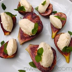 Figs with Lemon Ricotta and Mint (Recipe for homemade ricotta cheese) @nwedible.com