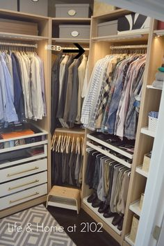 Life & Home at 2102: Guide to Building your own Closet using the IKEA PAX SYSTEM- Design Details Master Closet Part 1