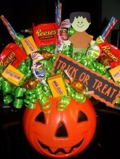 Halloween is around the corner and I have been putting together these adorable candy bouquets.  They will be sent to a local store for selli...
