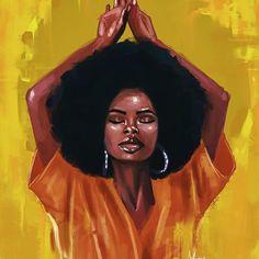 Art Black Love, Black Girl Art, Art Girl, Black Girls, Black Art Painting, Black Artwork, Afro Art, African American Art, African Art
