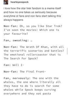 The whales are the best Star Trek Meme, Star Trek Tos, Star Wars, Starship Enterprise, The Final Frontier, Across The Universe, Live Long, Nerdy, Geek Stuff