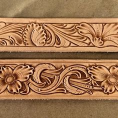 Knocking out more belts today #tannercustomleather #tannerbelts #handtooledleather #handmade #floralbelts